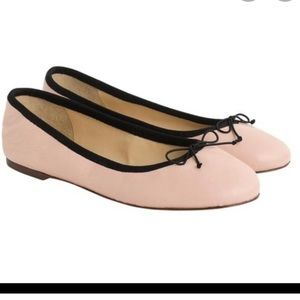 Chanel vibes with the J. crew leather ballet flat